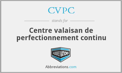 CVPC - Centre valaisan de perfectionnement continu