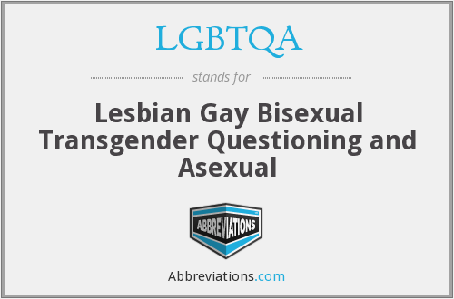 LGBTQA - Lesbian Gay Bisexual Transgender Questioning and Asexual