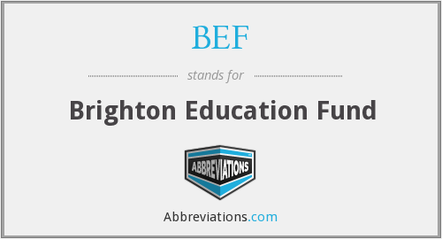 BEF - Brighton Education Fund