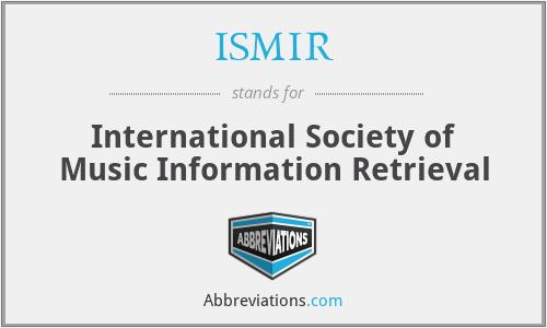 ISMIR - International Society of Music Information Retrieval