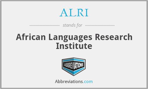 ALRI - African Languages Research Institute