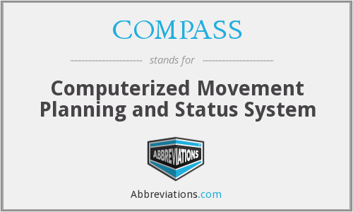 COMPASS - Computerized Movement Planning and Status System