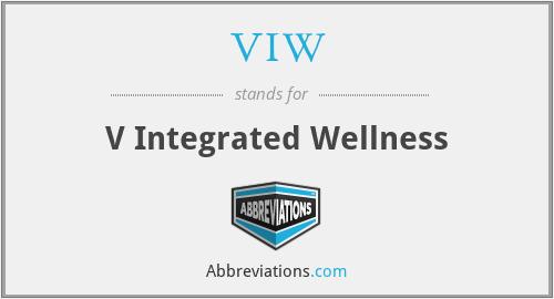 VIW - V Integrated Wellness