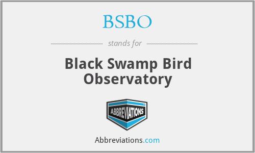 BSBO - Black Swamp Bird Observatory