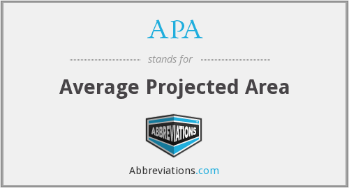 APA - Average Projected Area