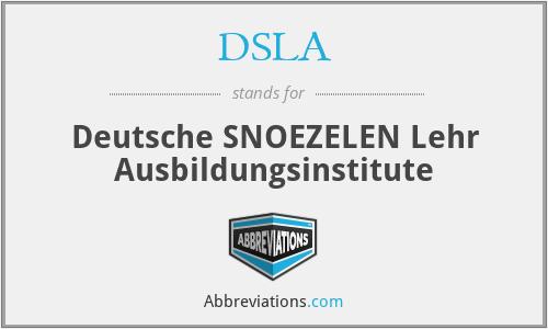 DSLA - Deutsche SNOEZELEN Lehr Ausbildungsinstitute