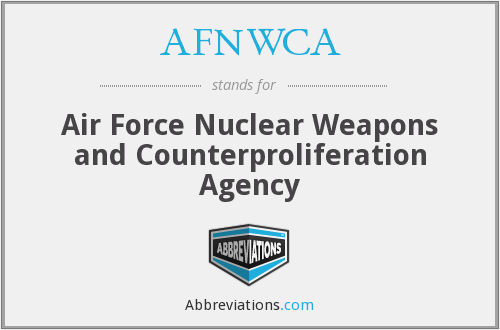 What does AFNWCA stand for?