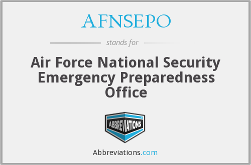 What does AFNSEPO stand for?