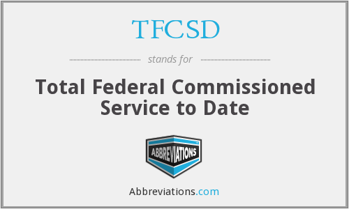 What does TFCSD stand for?