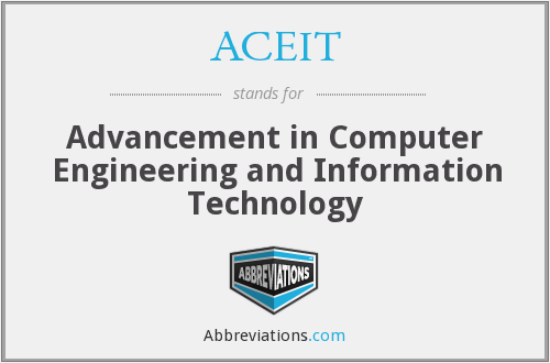 What does ACEIT stand for?