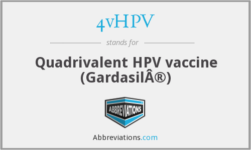 What does 4VHPV stand for?