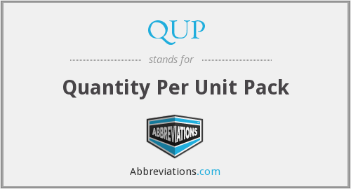 What does QUP stand for?