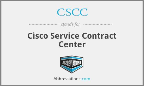 CSCC - Cisco Service Contract Center