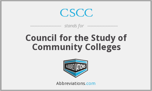 CSCC - Council for the Study of Community Colleges
