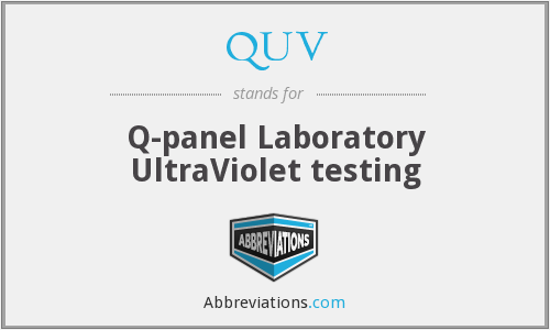 QUV - Q-panel Laboratory UltraViolet testing