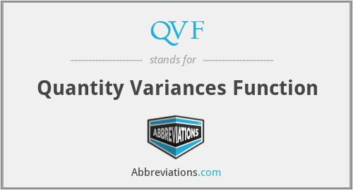 QVF - Quantity Variances Function