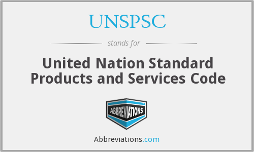 What does UNSPSC stand for?