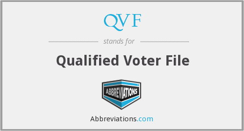 QVF - Qualified Voter File