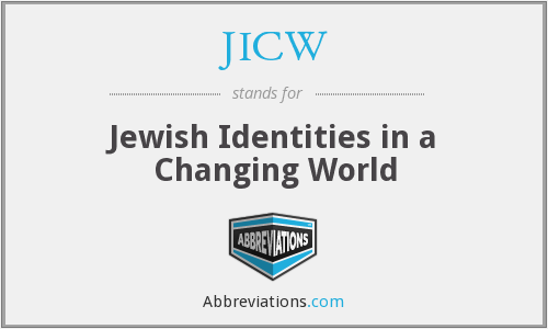 JICW - Jewish Identities in a Changing World