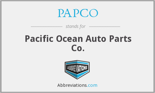 What does PAPCO stand for?
