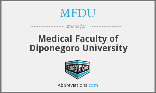 What does MFDU stand for?