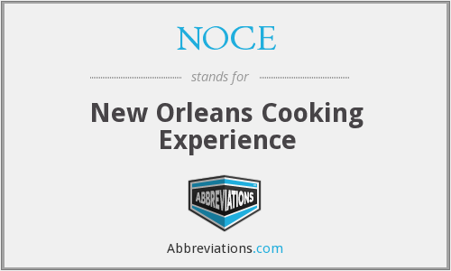 What does NOCE stand for?