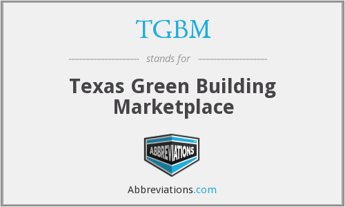 TGBM - Texas Green Building Marketplace