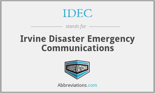 IDEC - Irvine Disaster Emergency Communications