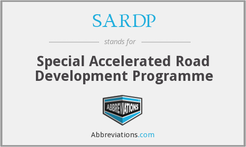 What does SARDP stand for?