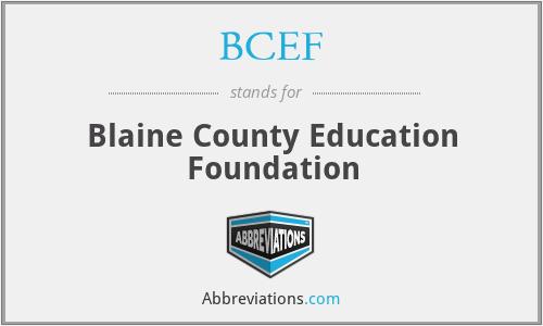 BCEF - Blaine County Education Foundation