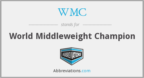 WMC - World Middleweight Champion