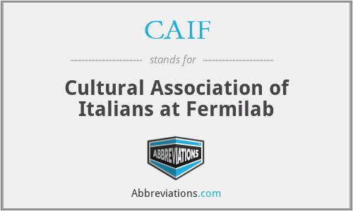CAIF - Cultural Association of Italians at Fermilab