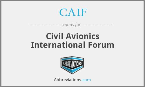 CAIF - Civil Avionics International Forum