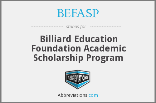 BEFASP - Billiard Education Foundation Academic Scholarship Program
