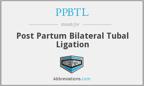 What does PPBTL stand for?