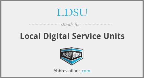 LDSU - Local Digital Service Units