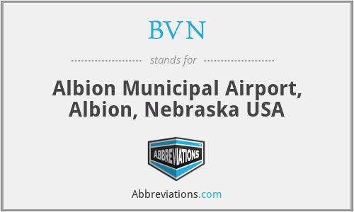 BVN - Albion Municipal Airport, Albion, Nebraska USA