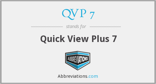 QVP 7 - Quick View Plus 7
