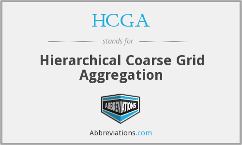 HCGA - Hierarchical Coarse Grid Aggregation