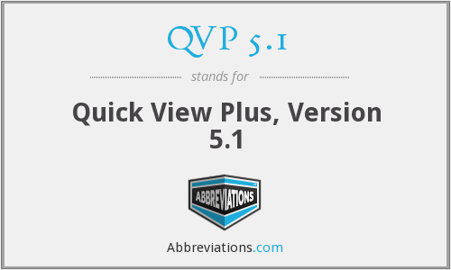 QVP 5.1 - Quick View Plus, Version 5.1