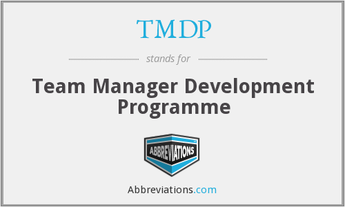 TMDP - Team Manager Development Programme