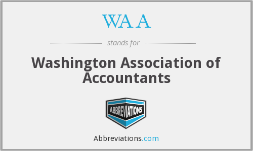 WAA - Washington Association of Accountants