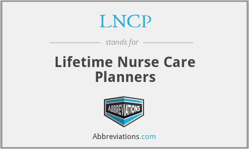 LNCP - Lifetime Nurse Care Planners