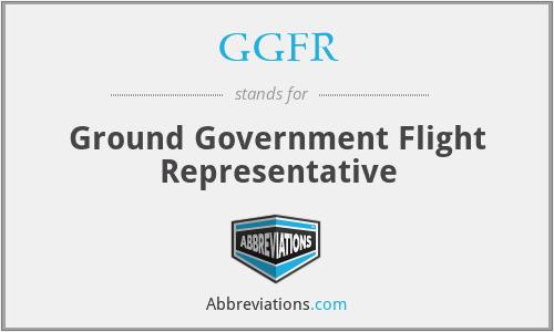 GGFR - Ground Government Flight Representative
