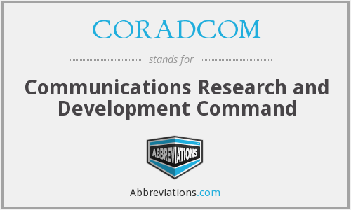 What does CORADCOM stand for?