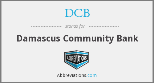 DCB - Damascus Community Bank