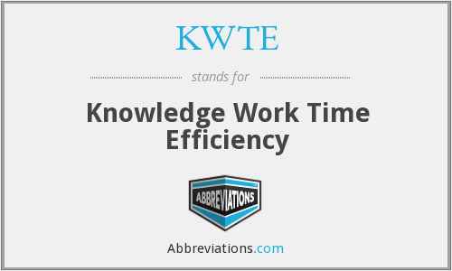 What does KWTE stand for?