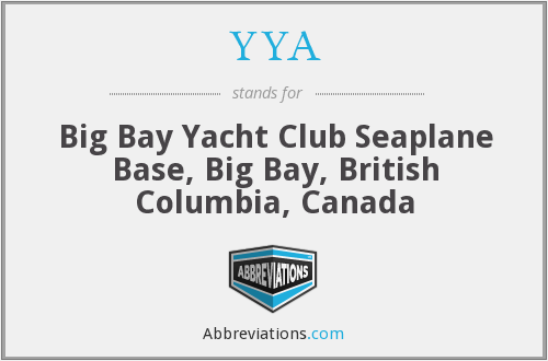 YYA - Big Bay Yacht Club Seaplane Base, Big Bay, British Columbia, Canada