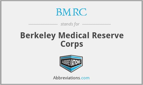 BMRC - Berkeley Medical Reserve Corps