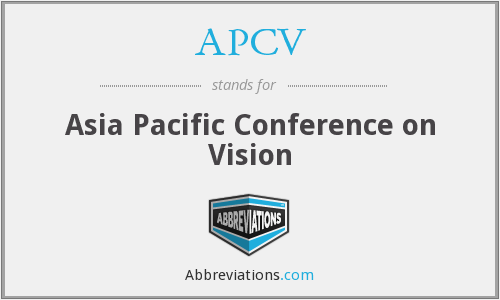 APCV - Asia Pacific Conference on Vision